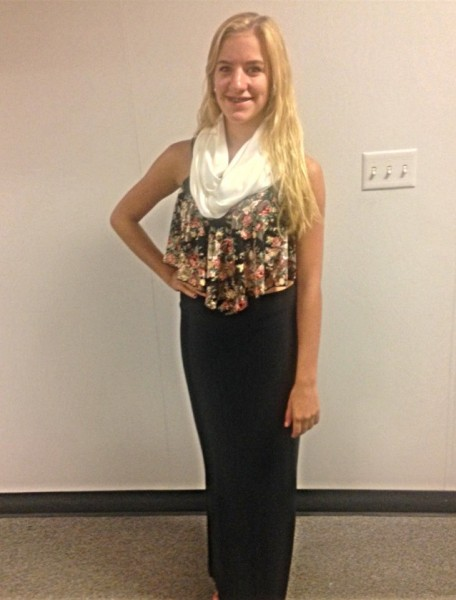 Madison Schumm poses and shows off her fall fashion.