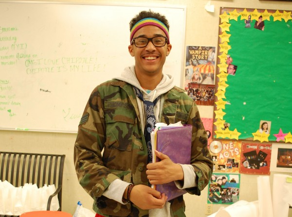 Mr.RHS+contestant+Juwan+Harris+participating+in+Wednesday%27s+spirit+day+with+a+%22Wacky+Tacky%22+outfit.+%28Briana+Garcia%29+