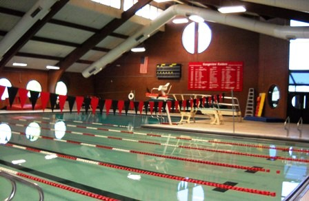 Girls Swimming team diving into another meet, now 3-2