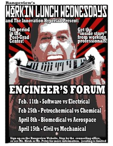 The engineers forum will be held starting February 11th (rangeview.aurorak12.org)