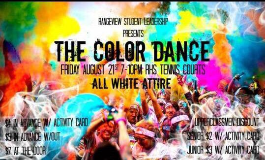 The Color Dance (Rangeview Twitter- @RHSExcellence)