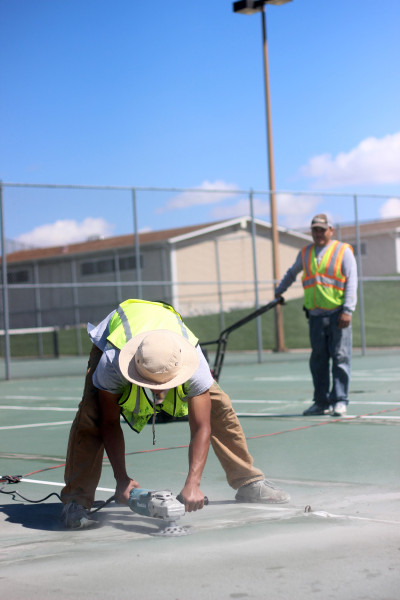 Renovations+for+the+tennis+courts+are+currently+being+made.+The+courts+should+be+finished+by+the+end+of+this+week.+%28Vincent+Tran%29+