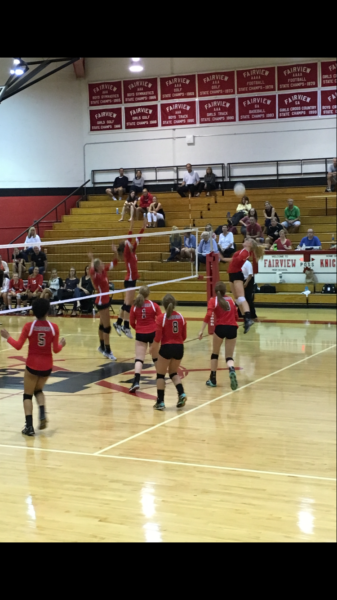 Feature+Photo+by%3A+Melony+Erly.+Ryan+Nelson+goes+up+for+a+kill+during+the+game+versus+Fairview+High+School.+The+Varsity+volleyball+team+lost+3-1.