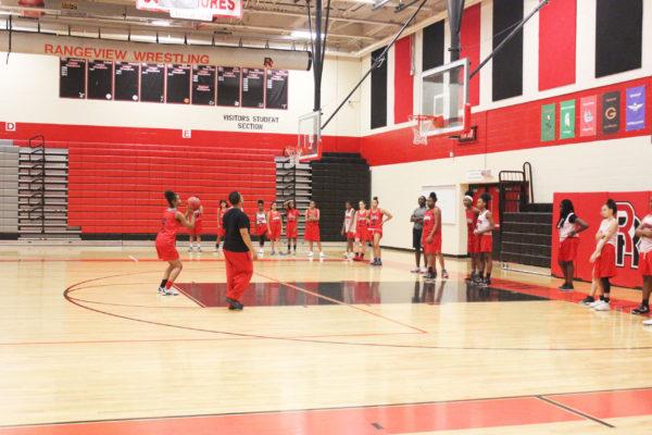 Girls basketball shoots its shot