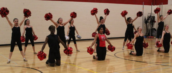 RHS cheer and poms count down to league tonight