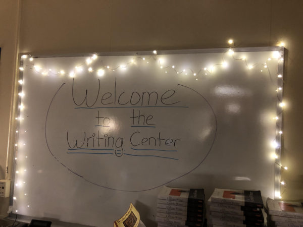 The Writing Center welcomes students in
