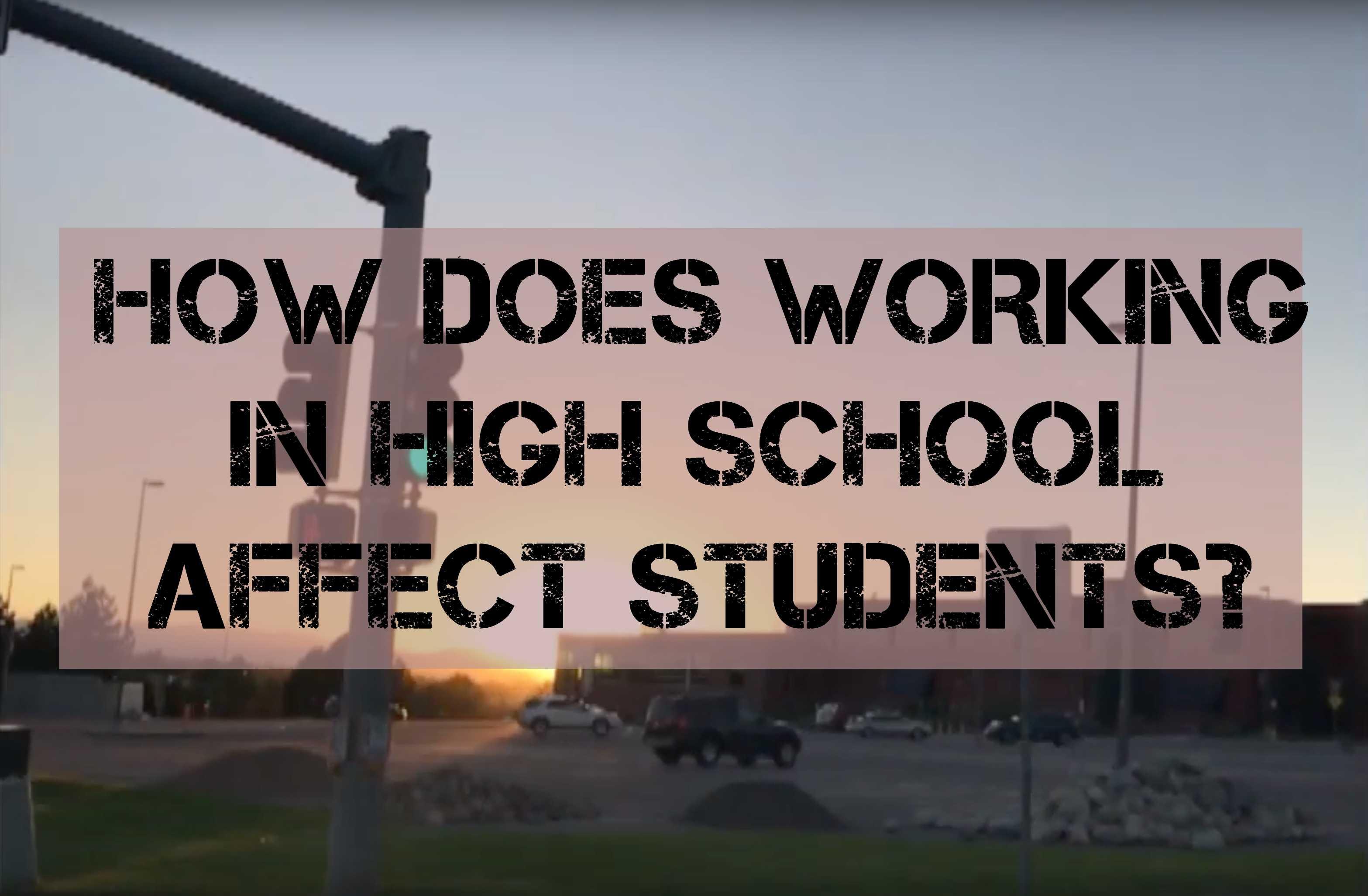Video: Working in high school affecting school performance
