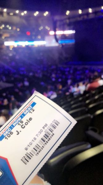 On September 9, 2018, I went to the Pepsi Center to see J. Cole perform in person. It was definitely one of the best shows I've been to. He was so raw and expressed so much passion throughout the whole night. (Jayah Caley)