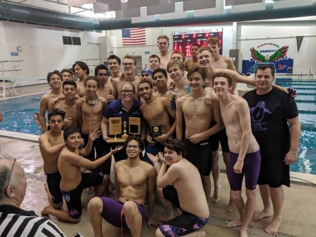 Boys' Swimming back strokes into EMAC Championships