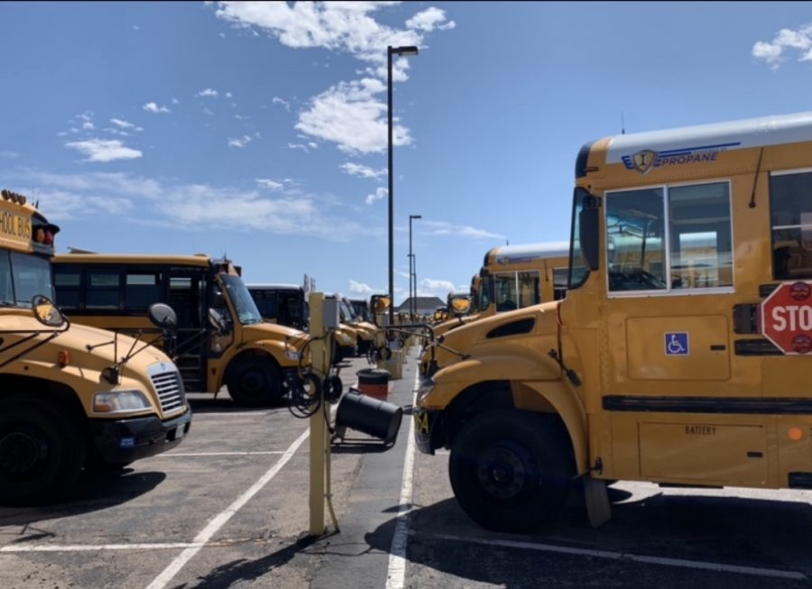Busses+parked+up+at+the+Aurora+Public+Schools+Transportation+Department+lot.+%28Oscar+Perez%29