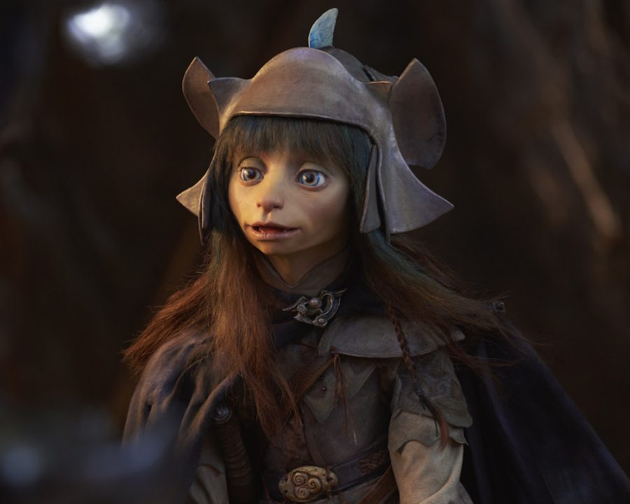 Rian gives a speech to the other Gelfling before battling against the Skeksis. Rian is one of the main characters; one that found out that the Skeksis had been lying to all of the creatures in Thra. (Netflix)