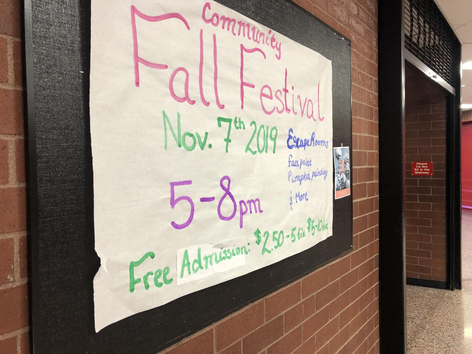 The Rangeview Fall Festival takes place tonight. The festival is from 5-8 p.m. Come enjoy escape rooms, face painting, pumpkin painting, and more!