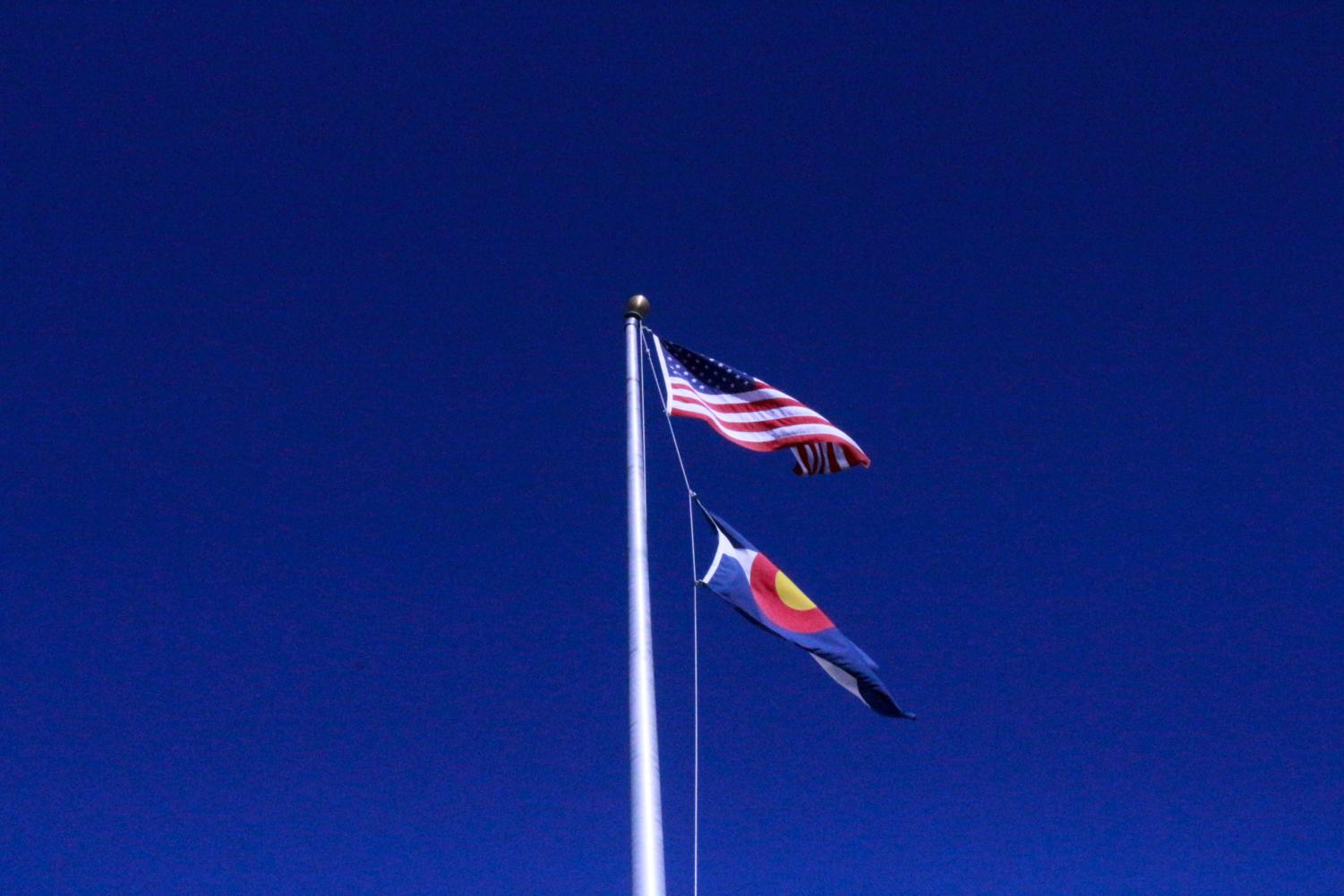 Feature Photo by: Dylan Tressider - The American flag in front of RHS. The American flag is often seen as a symbol of freedom for oppressed people around the world.
