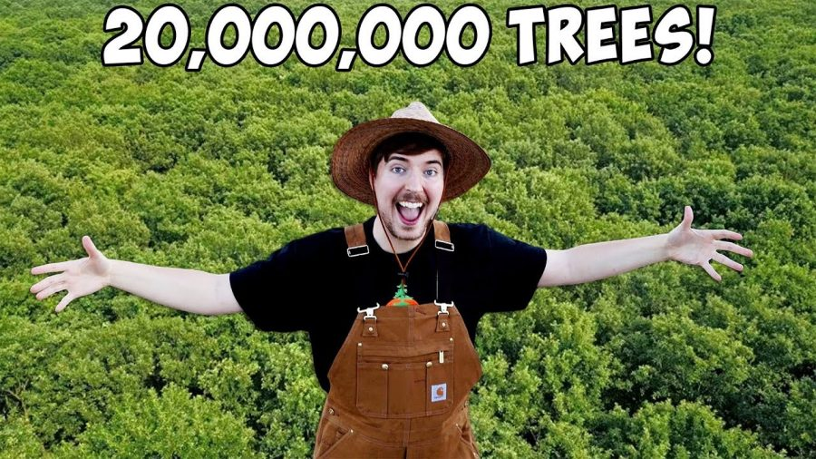 Feature Photo: Google - Mr. Beasts thumbnail for his 20 million tree plan video.