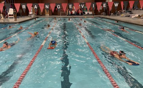 Girls swimming practice on December 10th. (Katiana Williams)