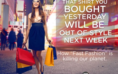 """As the name """"fast fashion"""" suggests, new styles are constantly coming out. This drives the consumption and production of clothing, ultimately killing our planet. (Mopify)"""