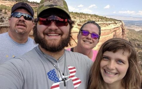 Feature Photo by Fox 7 Austin: The Lyster family smiles for a picture during a hike.