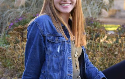 Valedictorian, Katie Finell, poses for her senior photo (photo provided by Katie Finell)