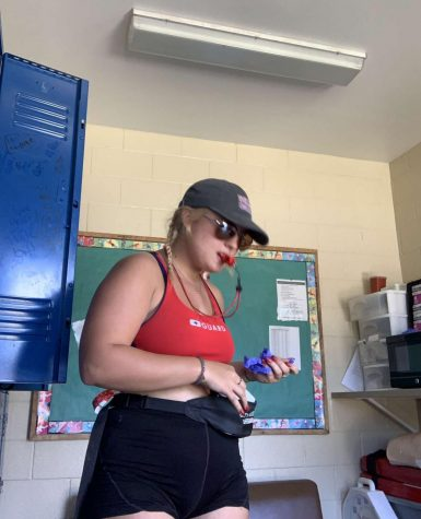Junior Mackenzie Mayotte is ready to work during the pandemic as a lifeguard. (Photo provided by Mackenzie Mayotte)