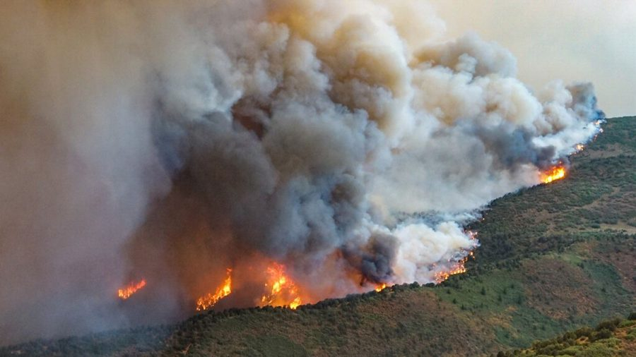(Feature Photo - KKTV 11 News) Grizzly Creek Fire continues to spread as it affects parts of Colorado. Heat change has a huge impact on us, affecting the air with pollution and making it hard to breathe.