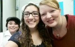 Columbia Middle School's final dress rehearsal for The Music Man back in 2016. I took selfies with all of my friends and cast members.