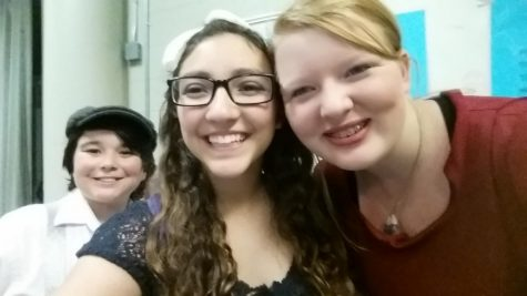Columbia Middle Schools final dress rehearsal for The Music Man back in 2016. I took selfies with all of my friends and cast members.