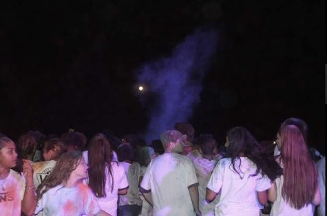 Students celebrating the Back to School Color Dance. (Photo Credits - Lorenzo Muzylowski)