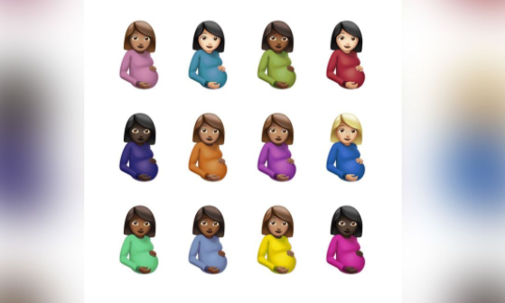 A variety of pregnant emojis for Drakes new Album Cover. (Apple Music)
